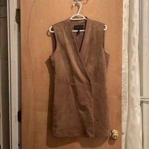 Beautiful brown Suede wrap dress by bcbgmaxazria